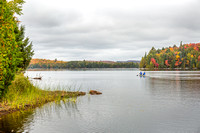 Canoeing on a Lake in Autumn - Algonquin Provincial Park, Ontari