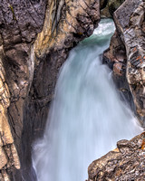 Waterfall in Jasper National Park - Alberta, Canada